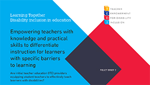 Policy Brief 2 - Empowering teachers with knowledge and practical skills to differentiate instruction for learners with specific barriers to learning and